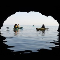 Kayaking around Thassos island 3 days