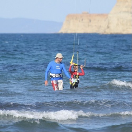 Kite Surfing Lessons in the Island of Gyokcheada, Turkey