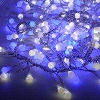 "Гирлянд""Фойерверк"",192 бели и сини LED/диодни/"