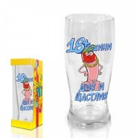 "Beer glass Funny Willy,""18+ years"",300 ml."