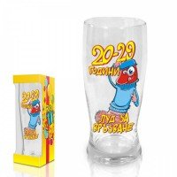 "Beer glass Funny Willy,""20-29 years"",300 ml."