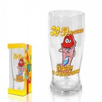 "Beer glass Funny Willy,""30-39 years"",300 ml."