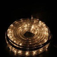 10м. прозрачен маркуч бели ориз. лампички,3 линии