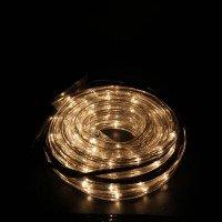 6м. прозрачен маркуч бели оризови лампички,3 линии