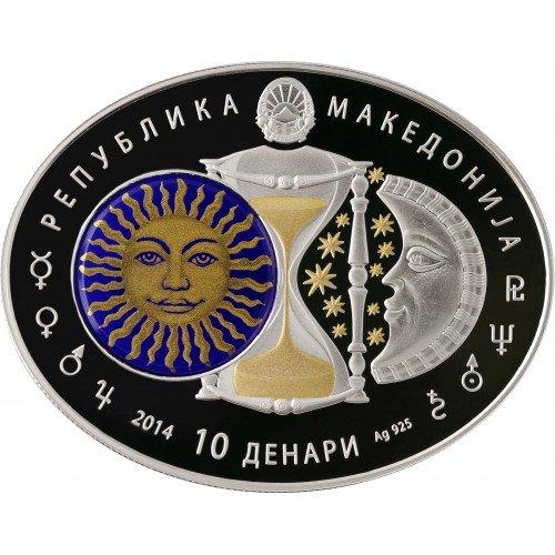 """Сребърна монета """"Зодиакални знаци - Лъв"""""""