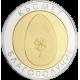 """Сребърен медал """"Яйце за Здраве и Късмет"""", с частично златно покритие"""