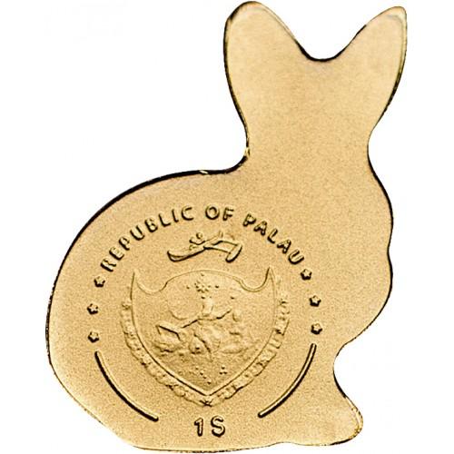 """Златна монета """"Златно късметлийско зайче"""""""