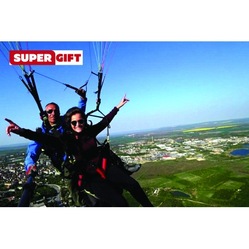 Tandem flight with paraglider over Shumen + HD video from Supergift.bg