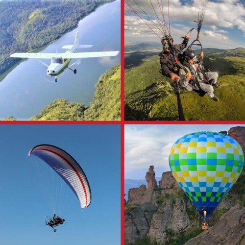 Gift Card with Options to Choose from Different Extreme Adventures