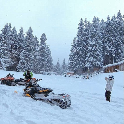 Romance or extreme in the winter mountain. Snowmobile for one or two!