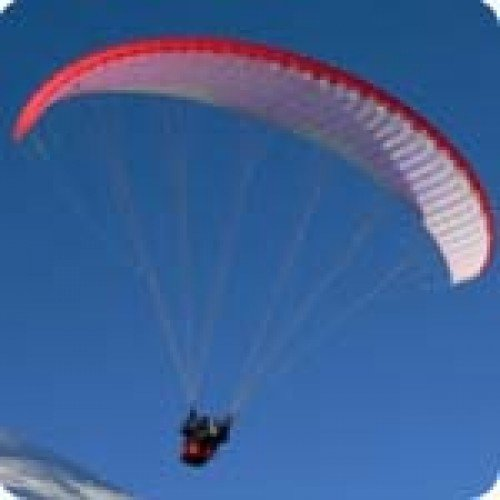 Полет с парапланер от връх Добростан