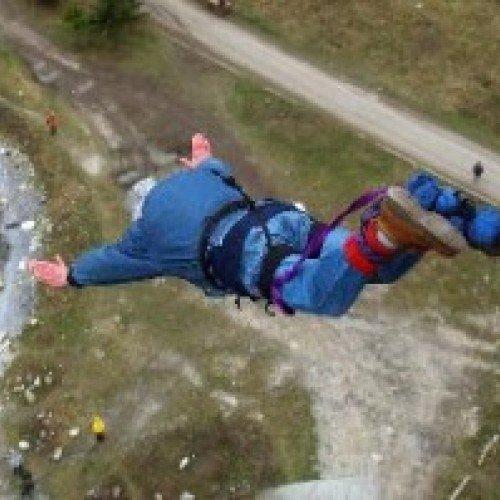 Скок с бънджи от Аспаруховия мост