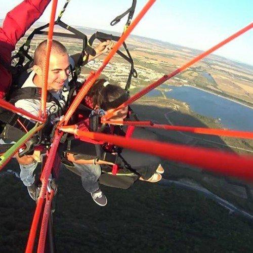 Полет с двоен парапланер /Пилот и двама пасажери/